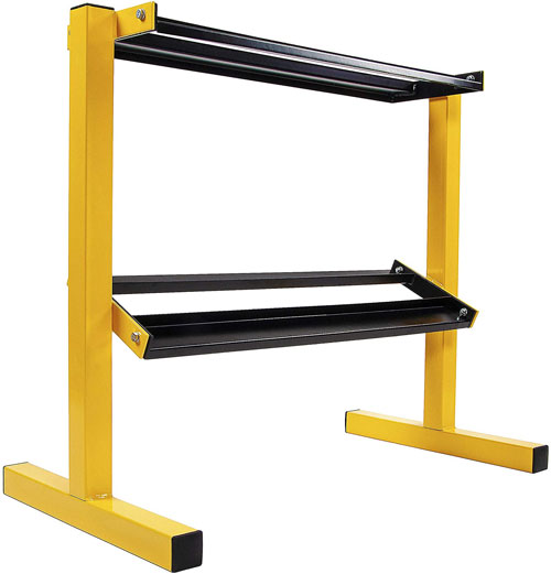 BalanceFrom 2 Tier Easy Grab Dumbbell Rack