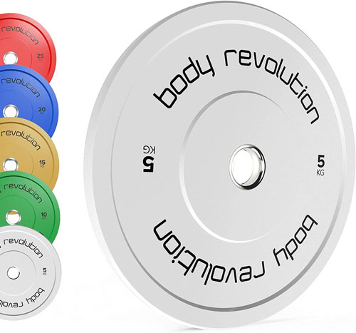 Body Revolution Olympic Colour Rubber Bumper Weights Plates