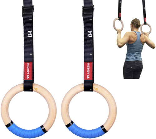 DYSD Wooden Gymnastic Rings