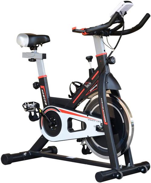 HOMCOM 8kg Flywheel Stationary Exercise Bike