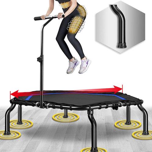 """Happy Jump 50"""" Mini Fitness Trampoline"""