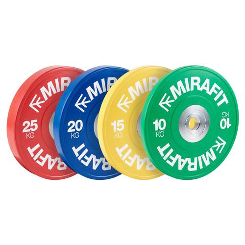 MIRAFIT Narrow Coloured Olympic Bumper Plates