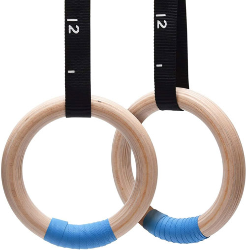 PACEARTH Wood Gymnastics Rings