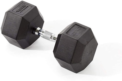 York Fitness Rubber Hex Dumbbells